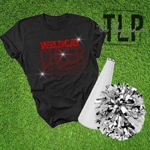 Wildcat Scatter Cheer Spangle Bling Shirt