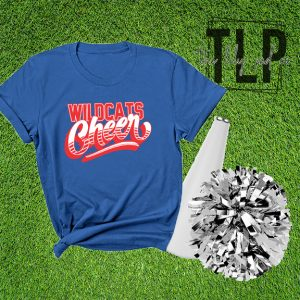 Wildcats Cheer Groovy Graphic Tee