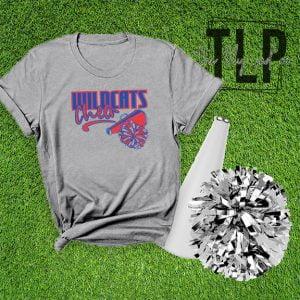 Wildcats Cheer Pom Mega Graphic Tee