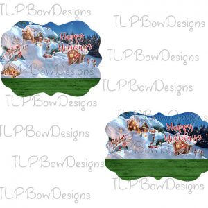 Northpole Happy Holidays Ornament Sublimation Design PNG file
