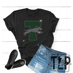 Taft Greyhound Mascot Spangle Bling Shirt