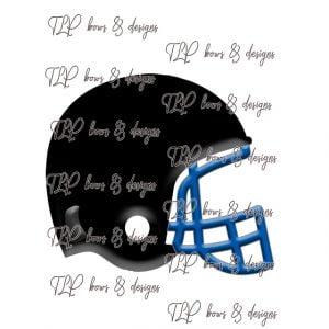 Black with Blue Helmet Sublimation Printable File