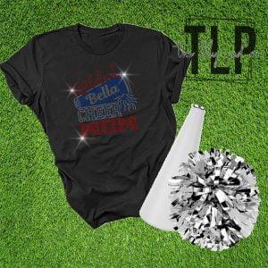 Wildcat Cheer Mom Spangle Bling Shirt