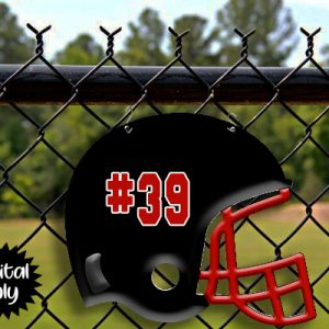 Black with Red Helmet Sublimation Printable File