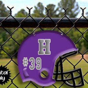 Black with Purple Helmet Sublimation Printable File
