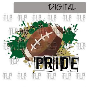 Dark Green and Gold Football Sublimation Printable File