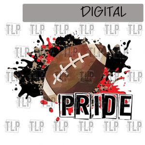 Black and Red Football Sublimation Printable File