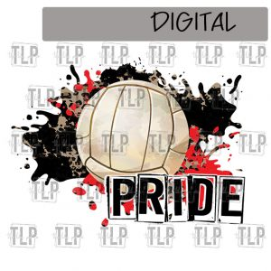 Black and Red Volleyball Sublimation Printable File