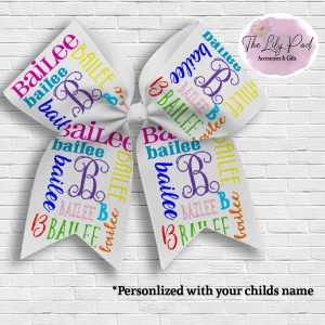 Personalized Name Hair Bow